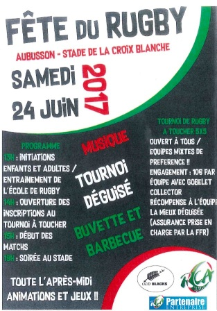 affiche fête rugby