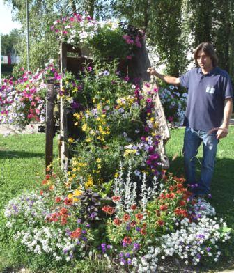 La cascade de fleurs avec JB