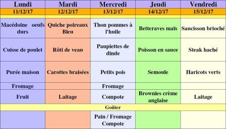 menu semaine 50