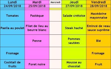 menu cantine semaine 39