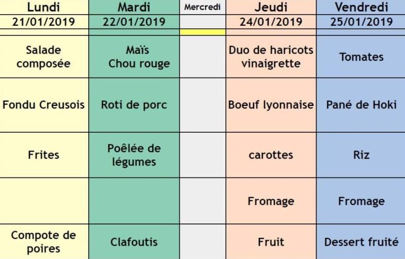 menu semaine 4