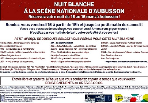 nuit blanche programme