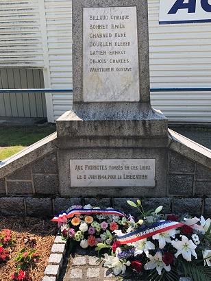 Stèle 8 juin 1944 pour site