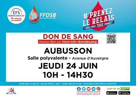 don du sang 24 juin 2021